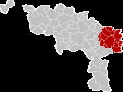 沙勒罗瓦区在埃诺省的位置