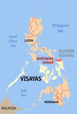 北萨马省在菲律宾上的位置