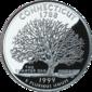 Connecticut quarter dollar coin