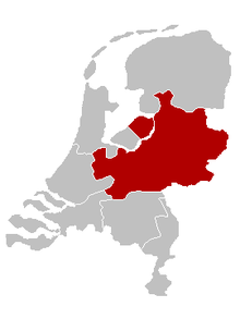 The location of the Archdiocese of Utrecht in the Netherlands