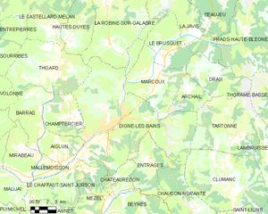 迪涅莱班城区地图