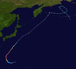 超强台风鹦鹉的路径图