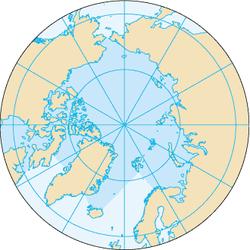 北冰洋地图