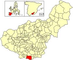 Location of Motril