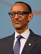Photograph of Paul Kagame, taken in Busan, South Korea, in 2014