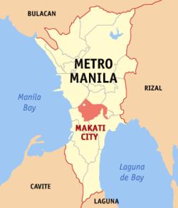 马卡蒂在菲律宾上的位置