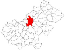 Location in Satu Mare County
