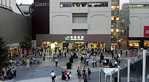 JR电器街出口(摄于2011年8月12日)