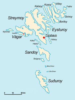 Faroe islands map with island names.png