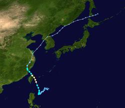 台风海鸥的路径图