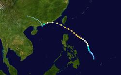 台风玛姬的路径图