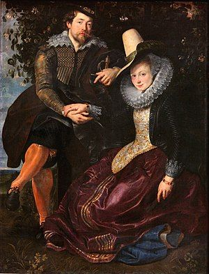 Peter Paul Rubens Peter Paul Rubens - The Artist and His First Wife, Isabella Brant, in the Honeysuckle Bower.jpg