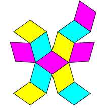 Rhombicdodecahedron net2.png