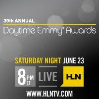 Promotional poster of the 39th Daytime Emmy Awards in black and yellow.