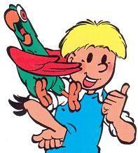 Jommeke and his parrot Flip