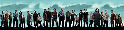 The main actors from Lost, standing side-by-side.