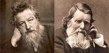 Two elderly, bushily bearded, Victorian men