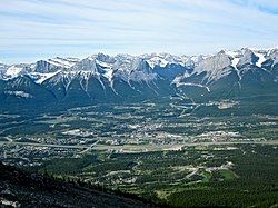 Canmore from Mount Lady Macdonald in May 2009