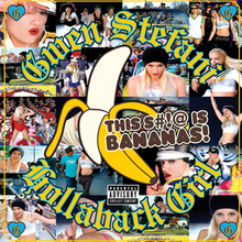A collage of shots from the single's music video, portraying Stefani.