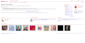 MusicBrainz homepage.