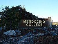 Name sign at campus entrance