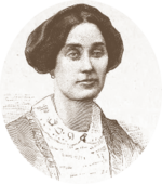 engraving of portrait of young white woman with dark hair