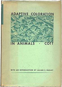 Adaptive Coloration in Animals by Hugh Cott 1st Am Edn 1940 cover.jpg