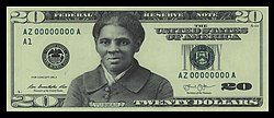 Image of $20 bill with Tubman's face