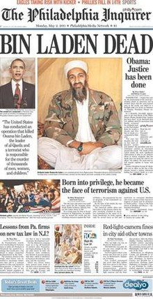 2 May 2011 front page