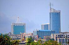 Photograph of buildings in Kigali CBD