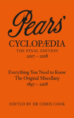 Front cover of the 2017 edition of Pears' Cyclopaedia
