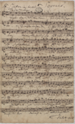 Soprano part in Bach's hand