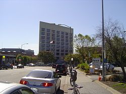 Laney College next to Lake Merritt BART station