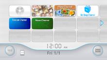 Screenshot of Wii Menu