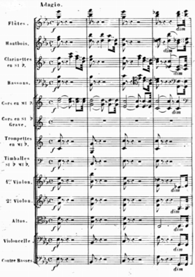 Page of a full symphonic score
