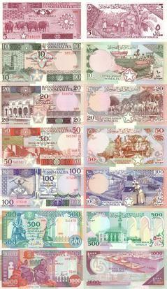 索马里在1983至1996年发行的纸币系列。