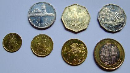 澳门圆硬币正面