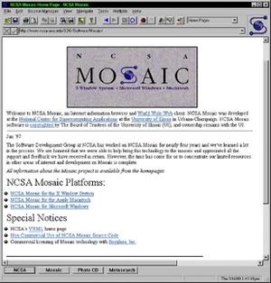 NCSA Mosaic 3.0运行于Windows