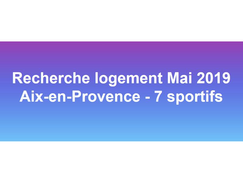 Cherche Logement proche Aix-en-Provence pour 7sportifs