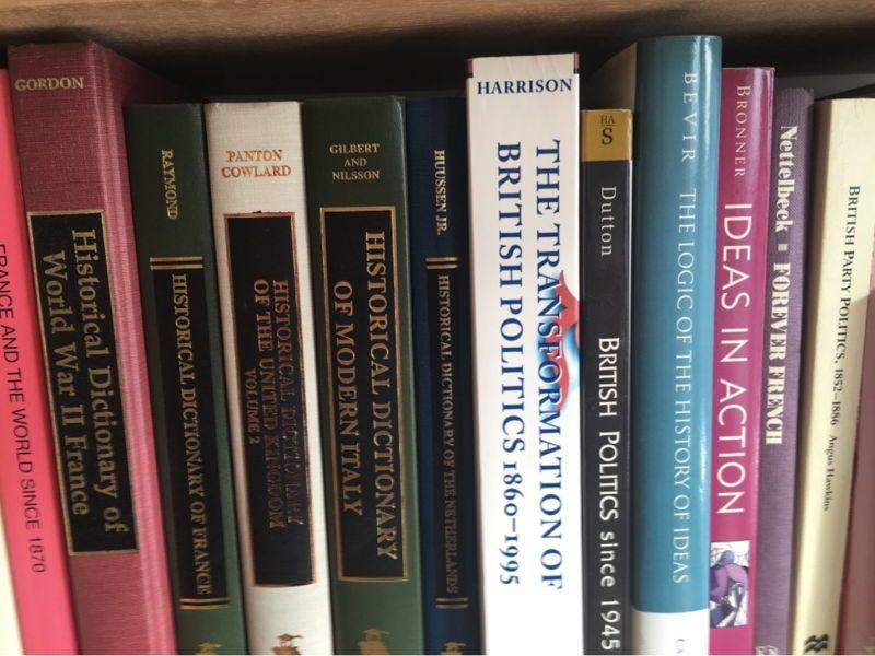 Livres en anglais, histoire politique