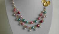 Collier double rang en perles nacrées