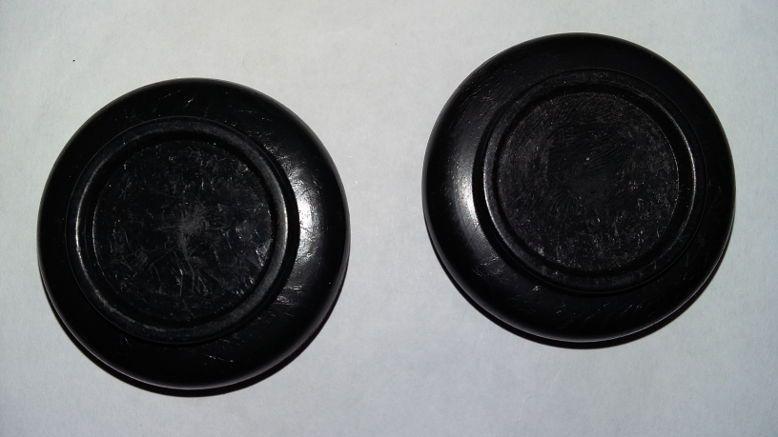 Donne paire de socles en laque noire