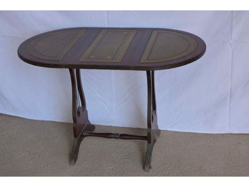 Table lyre de salon ou d'appoint pliante
