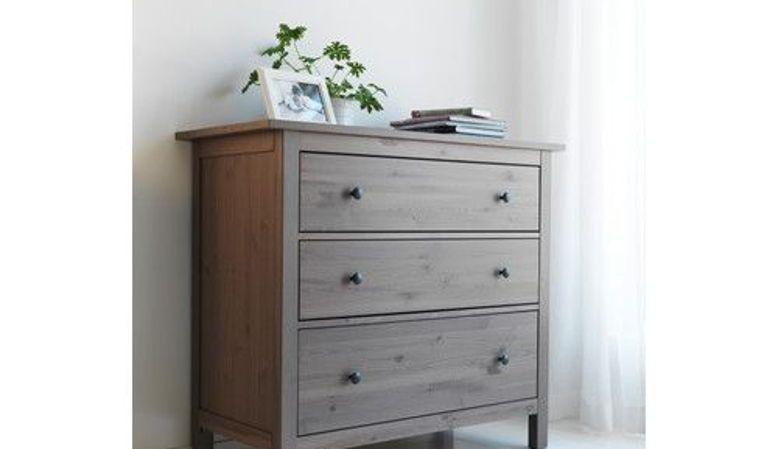 HEMNES commode 3tiroirs IKEA Bois brun gris