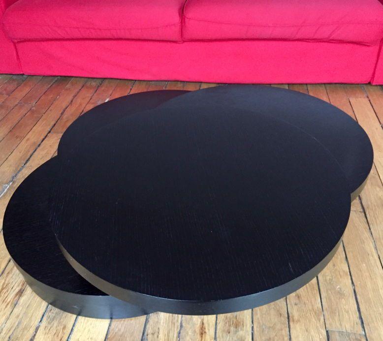 Vends table basse ronde à plateaux tournants