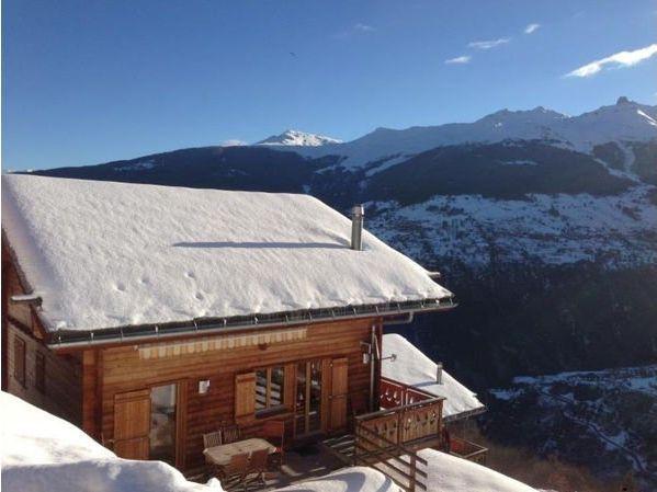 Loue Chalet (8pers) Valais suisse (4Vallées) : panorama, ski, rando