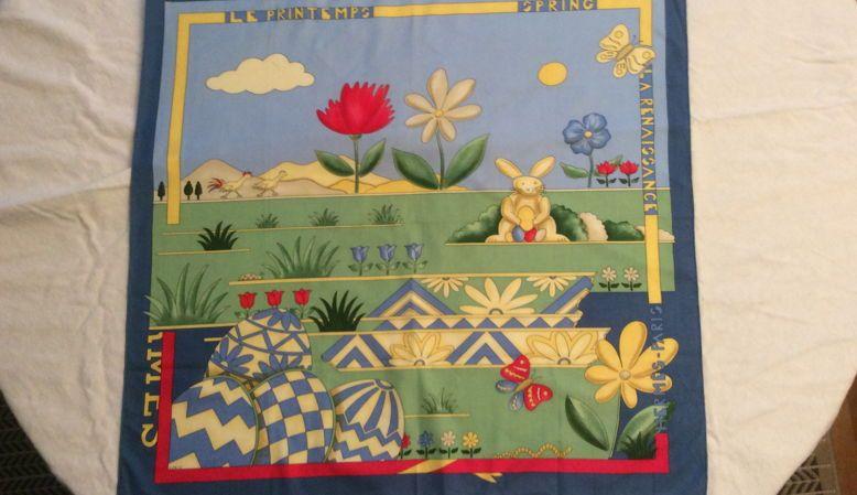 HERMÈS foulard en coton 68/68