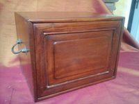 Ancien Petit coffre à tiroirs en bois précieux de palissandre