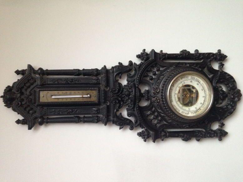 Vends baromètre/thermomètre style Napoléon III