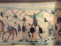 Vends tableau indien - peinture sur soie